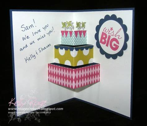 how to make pop up cake card pop up card tutorial by kellysrose cards and paper