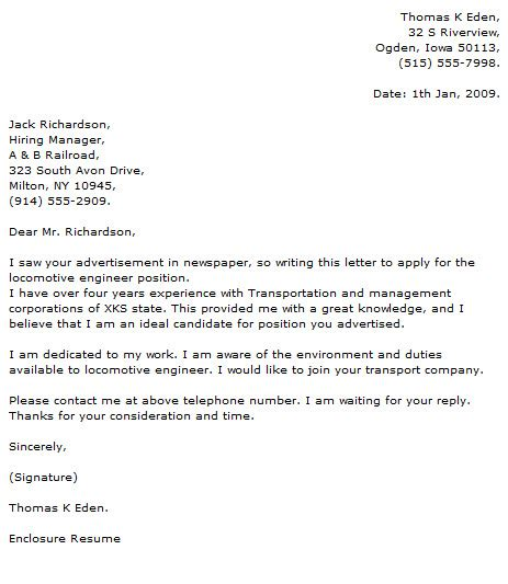 best letter samples mechanical engineer cover letters