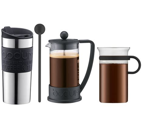 coffee gift sets buy bodum coffee gift set black free delivery currys
