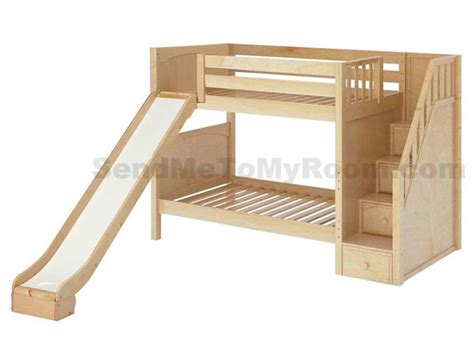 boy bunk bed with slide stellar medium bunk bed with slide and staircase bunk