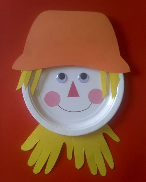 paper plate craft crafts for preschoolers paper plate scarecrow