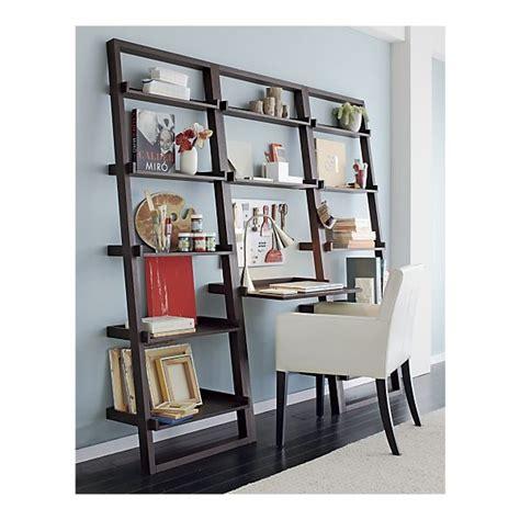 leaning bookshelf desk sloane grey leaning desk with 2 bookcases