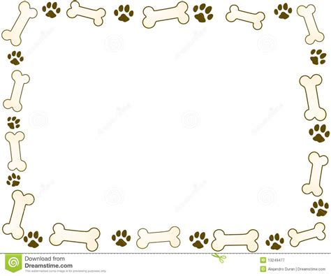 bone and paw frame stock vector image of bone food
