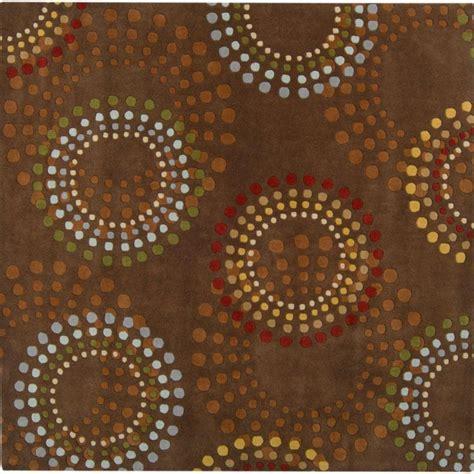 6 square area rug artistic weavers rantigny chocolate wool 6 square