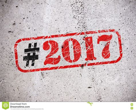 happy new year rubber st rubber st with text happy new year 2017 stock image