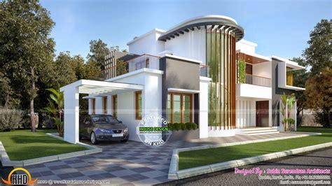 villa plan new modern villa plan kerala home design and floor plans