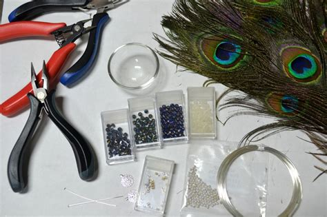 how to make feather earrings with crimp my diy part 5 pretty peacock feather earrings