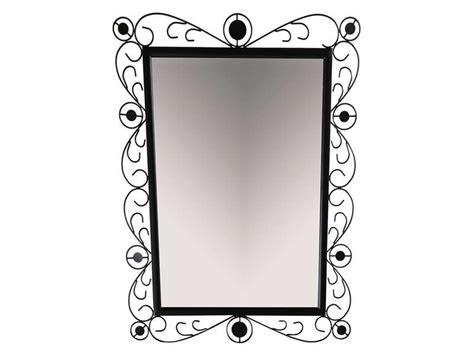 miroir en fer forg 233 noir