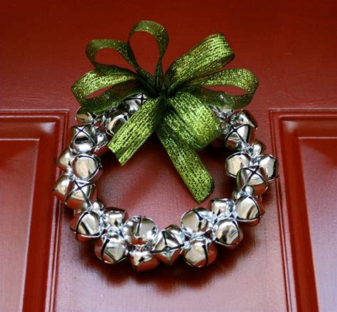 jingle bell wreath small silver jingle bell wreath