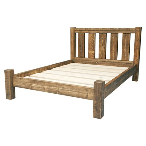 rustic wood bed frames rustic solid wood bed frame with slatted by