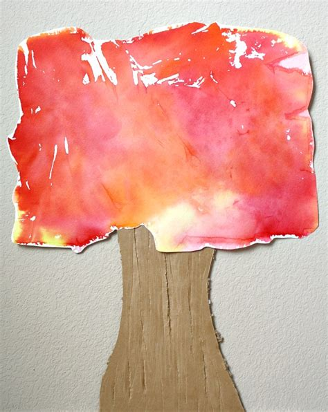 crafts using tissue paper tissue paper fall tree craft