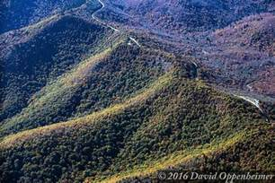 the at ridge aerial of the blue ridge parkway at graveyard fields in nc