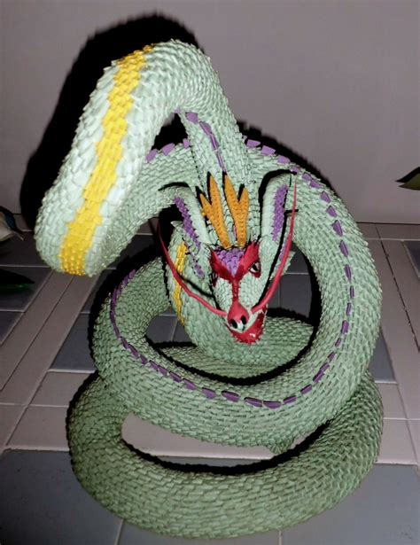 3d origami pictures 3d origami serpent 2 by dfoosdc on deviantart