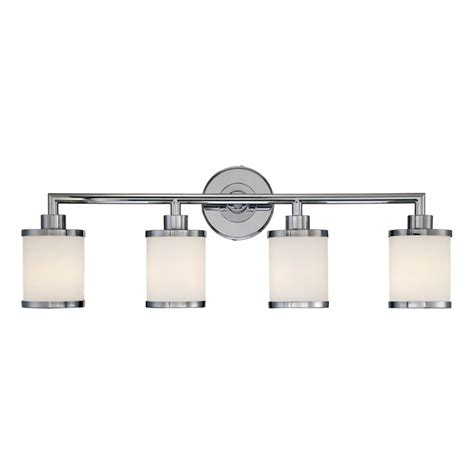 chrome bathroom vanity lights shop millennium lighting 4 light chrome standard bathroom
