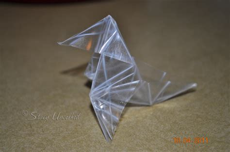 plastic origami princess nagger and the world s largest origami macaw