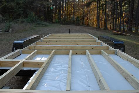how to frame a floor adding the deck the tiny