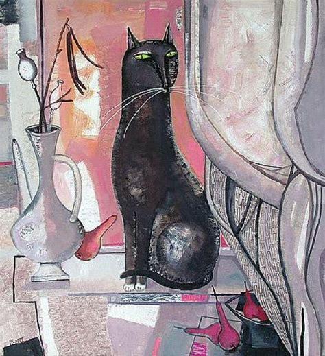 black cat painting step by step black cat paintings black cat tatyana gorshunova