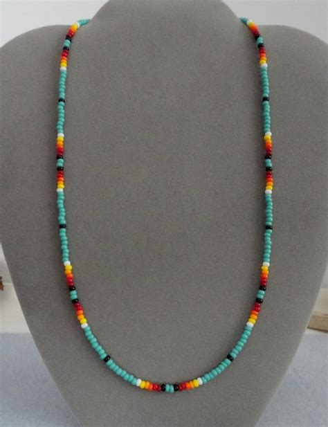 indian beaded necklace turquoise beaded mens womens necklace american ebay