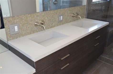bathroom quartz integrated sinks modern vanity tops and