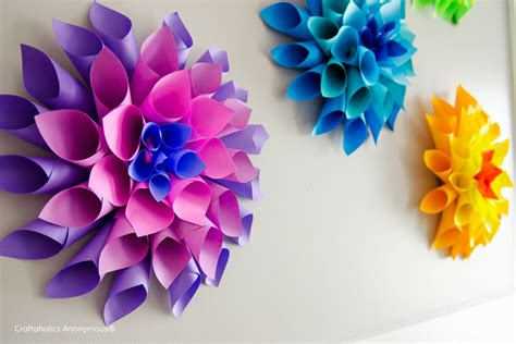 flower crafts for to make craftaholics anonymous 174 rainbow paper dahlia flowers