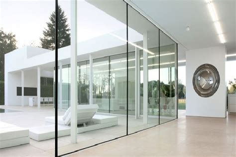 glass wall design glass wall design at villa v in t in flanders belgium by