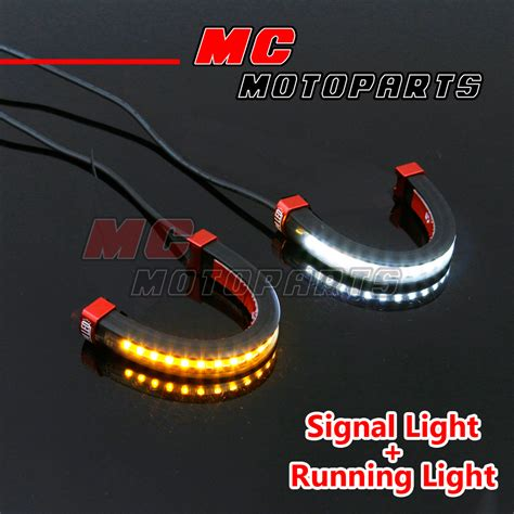led lights ebay front fork light led turn signal light indicator for