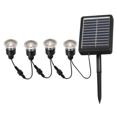 solar outdoor lights home depot kenroy home 2 in outdoor solar string black deck light 4