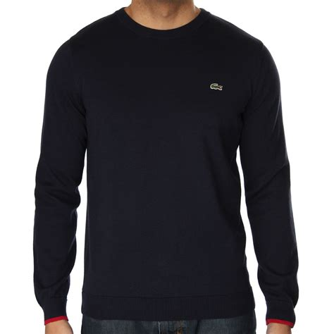 lacoste knitted jumper lacoste ah1555 knit jumper lacoste from the menswear site uk