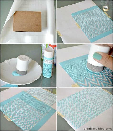 crafts for diy diy stenciled wrapping paper with martha stewart crafts