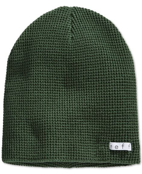 waffle knit thermal neff quill thermal waffle knit beanie in green for lyst