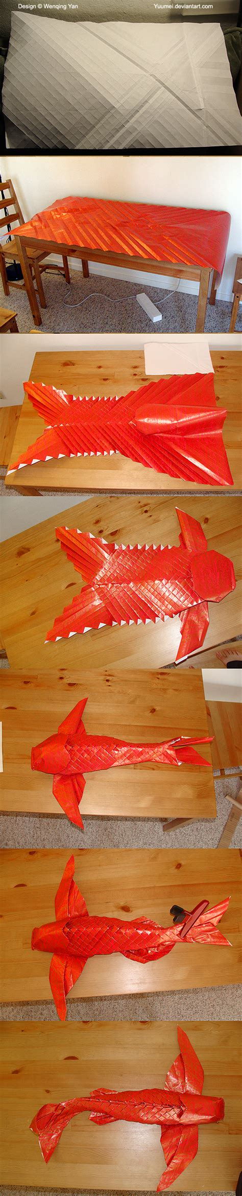 how to make an origami koi fish step by step origami winged koi process by yuumei on deviantart