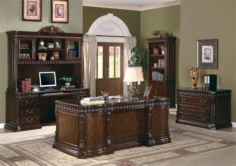 furniture home office desks traditional carved desk furnishing wood home