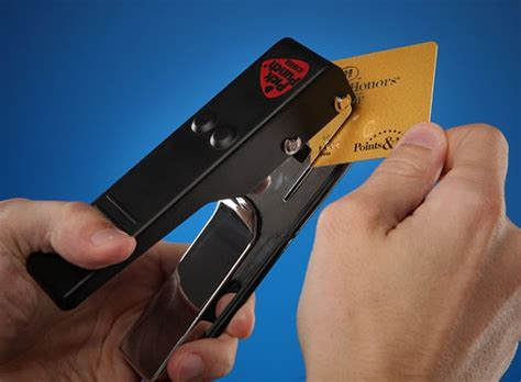 make guitar picks from credit cards make your the punch lets guitarists make custom