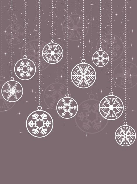 hanging baubles hanging snowflake baubles background vector free