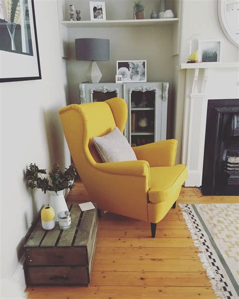 Living Chair by Strandmon Chair Ikea This Yellow Living