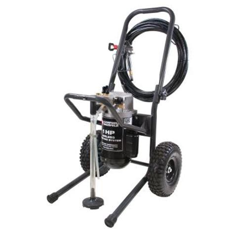 home depot paint sprayer hose cbell hausfeld 1 hp barn fence airless paint sprayer w