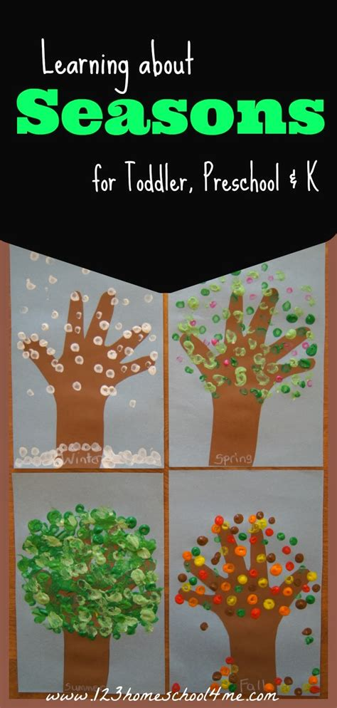 seasons crafts for learning about the 4 seasons free printable