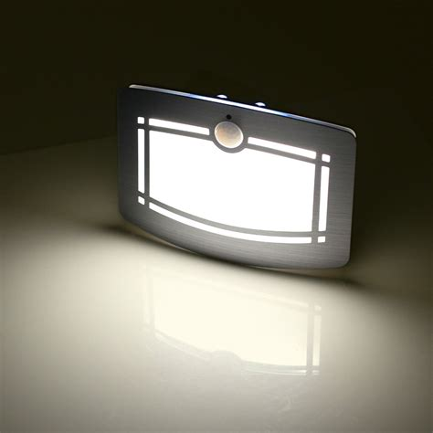 light battery operated motion sensor activated led wall sconce battery operated
