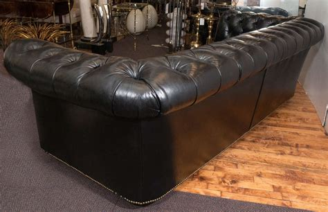 black tufted leather sofa black leather tufted sofa