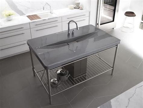 prep sinks for kitchen islands kohler k 6417 2 g9 iron occasions island integrated top