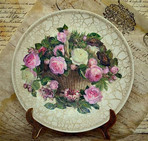 decoupage plates decoupage plates with their master classes and 50