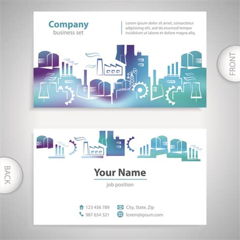 how to make front and back business cards in word excellent business cards front back template vector 09