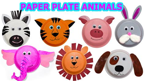 animal paper plate crafts how to create animals using paper plates craft
