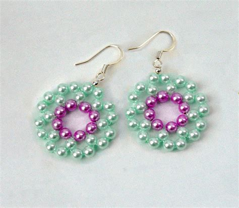 free beaded earring patterns free pattern for beautiful earrings mermaid magic
