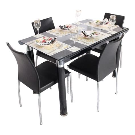 dining tables for 4 bent 4 seater glass top dining table set woodys furniture