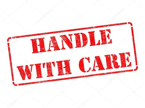 fragile rubber st handle with care rubber st stock photo