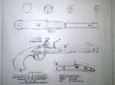blueprints and designs for building authentic flintlock