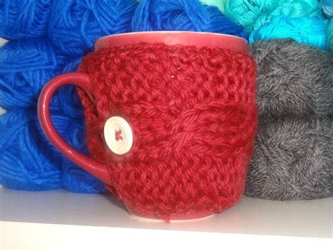 mug knitted warmer knitted mug warmer 183 a mug warmer 183 yarn craft crochet