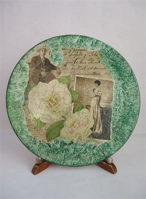 decoupage plates with photos 327 best decoupage crafts ideas images on