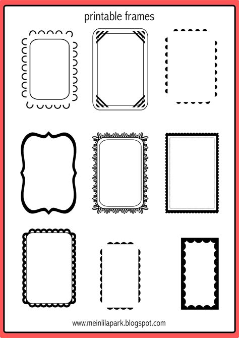 free printable free printable doodle frames bullet journal template